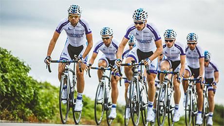 Team Novo Nordisk alla Milano Sanremo